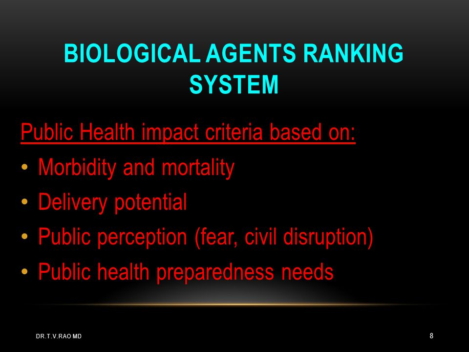 Biological Agents Ranking System