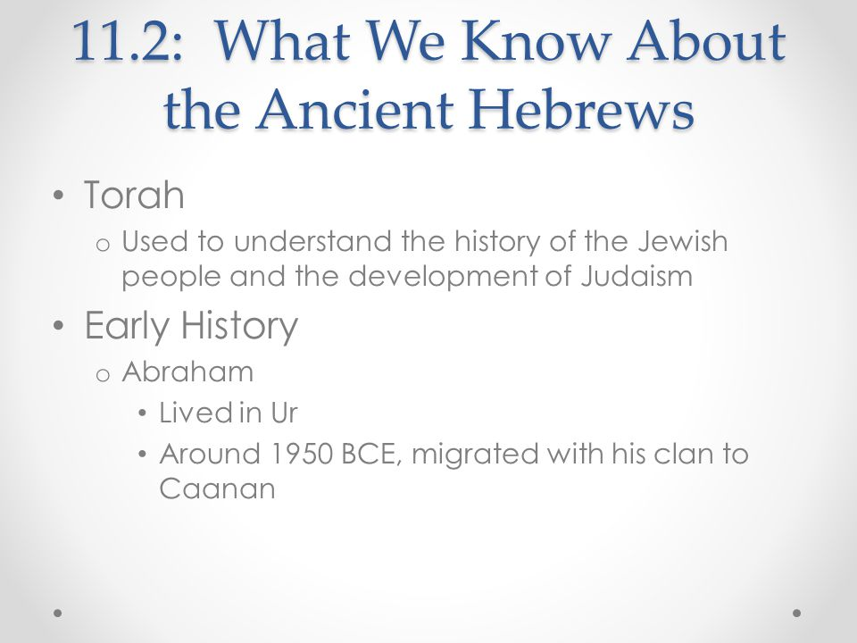 11.2: What We Know About the Ancient Hebrews