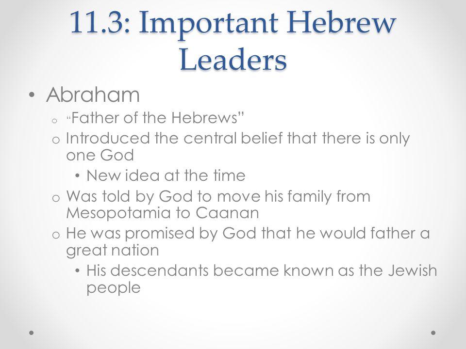 11.3: Important Hebrew Leaders