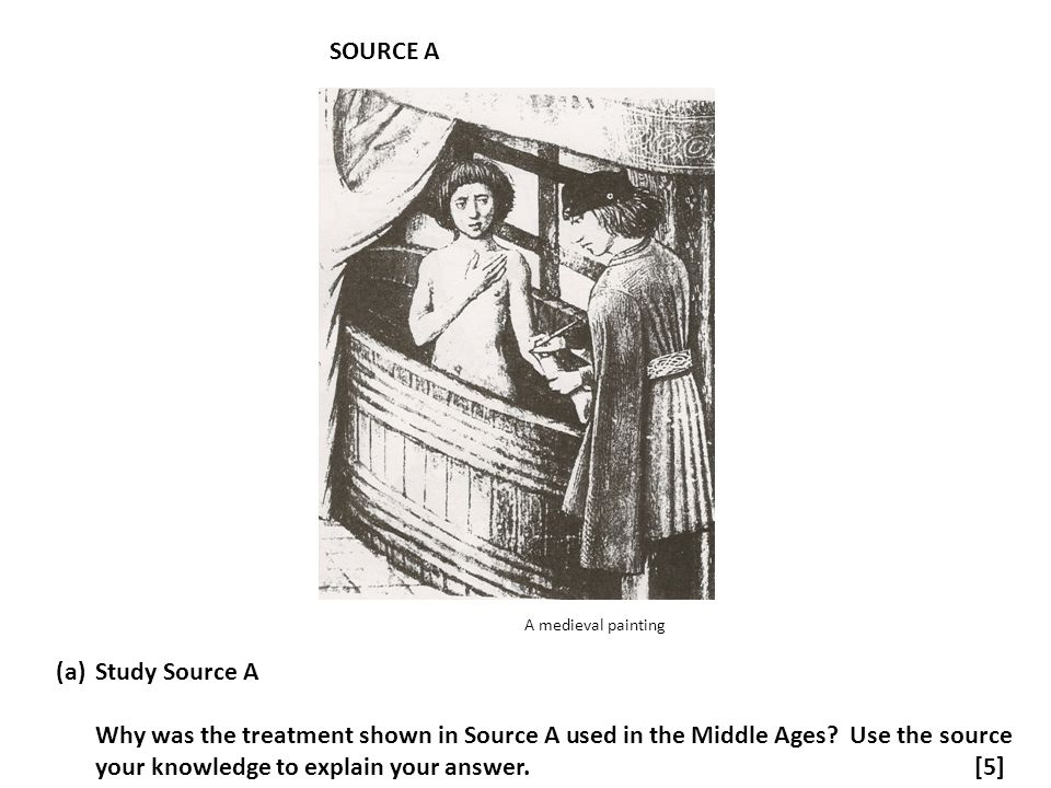 SOURCE A A medieval painting. Study Source A.