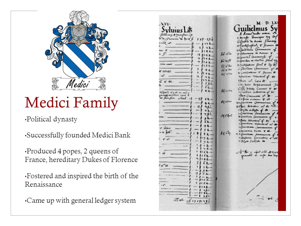 Medici Family Political dynasty Successfully founded Medici Bank