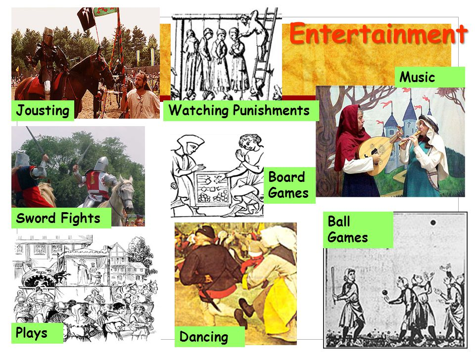 Entertainment Music Jousting Watching Punishments Board Games