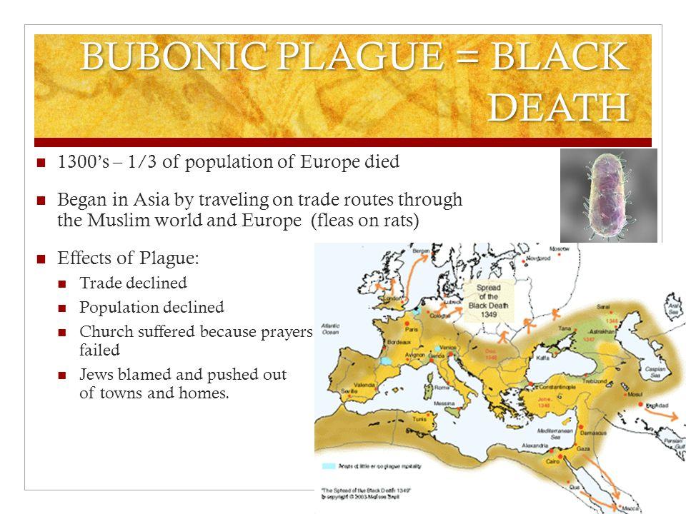 BUBONIC PLAGUE = BLACK DEATH