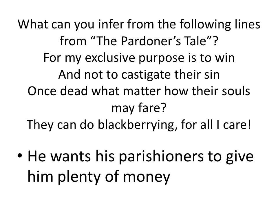 He wants his parishioners to give him plenty of money