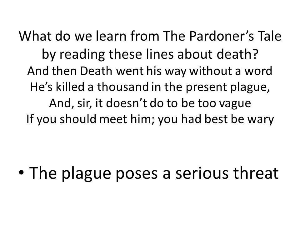 The plague poses a serious threat