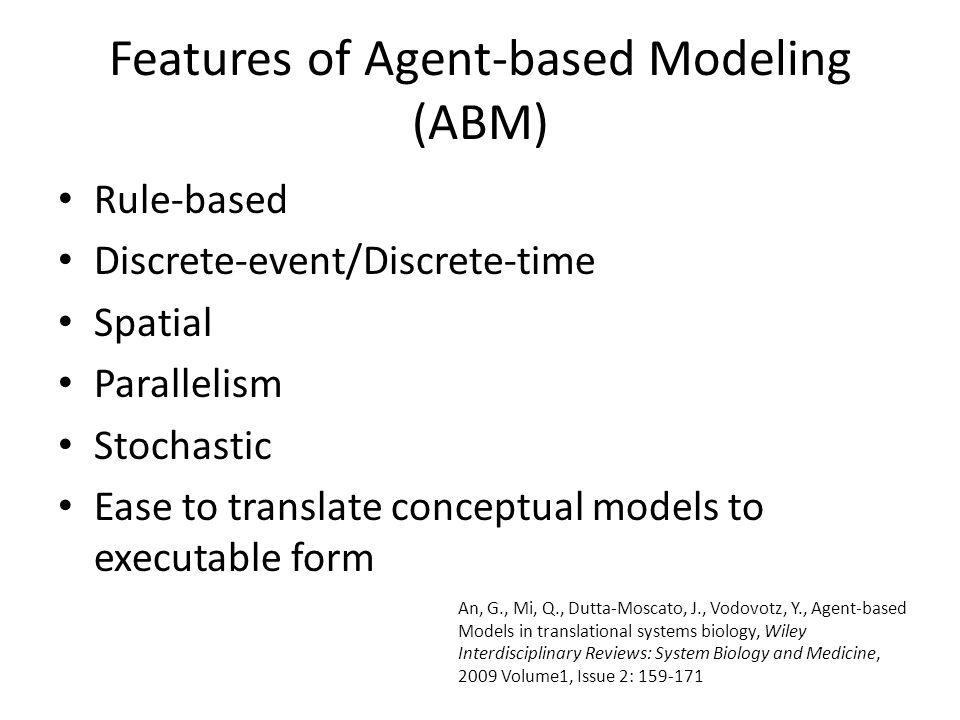 Features of Agent-based Modeling (ABM)