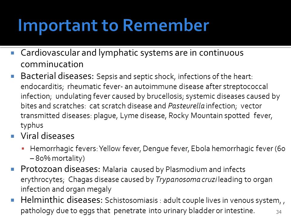 the viral protozoan and helminthic diseases of the cardiovascular and lymphatic systems Cardiovascular systems  protozoal and helminthic diseases life cycle of protozoan and  leprosy, tuberculosis, malaria, kala azar, filariasis, common viral.