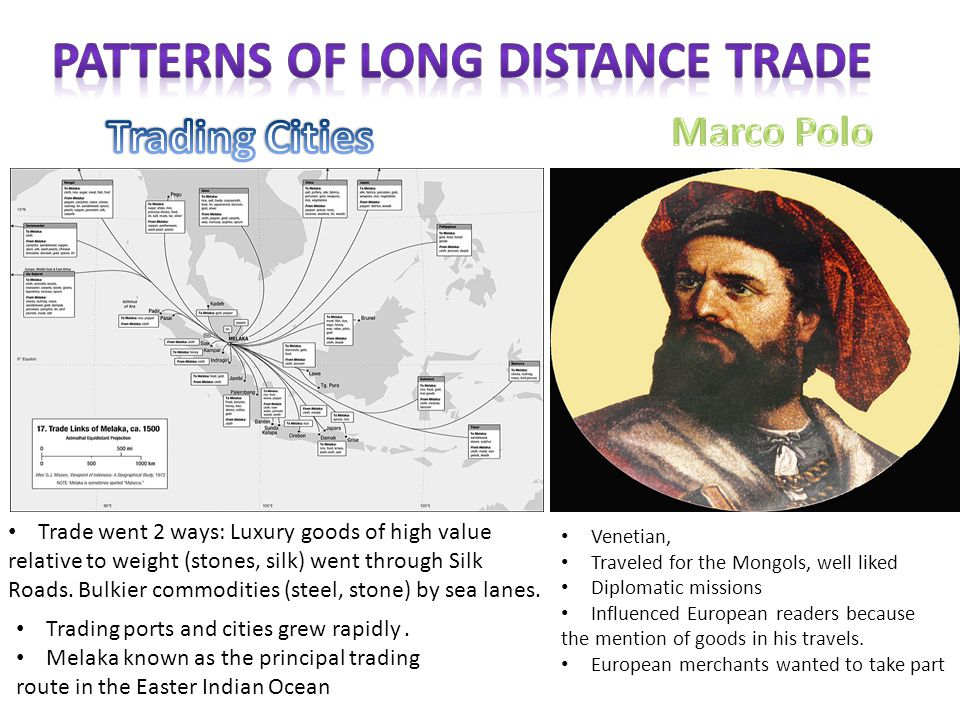 PATTERNS OF LONG DISTANCE TRADE