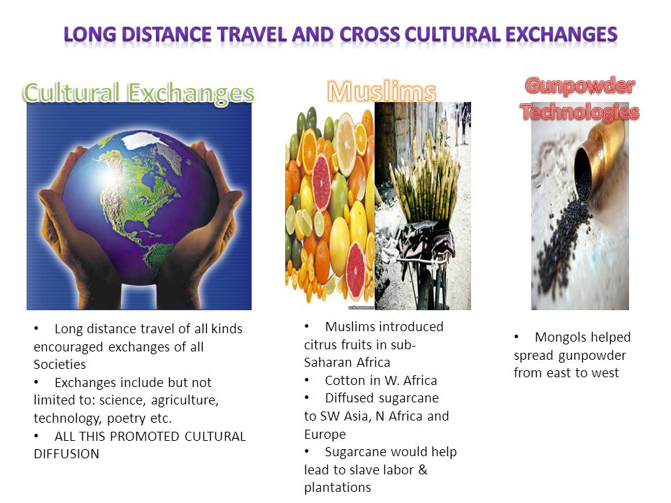 Long Distance Travel and Cross Cultural Exchanges