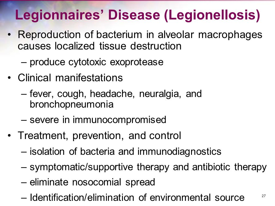 Legionnaires' Disease (Legionellosis)