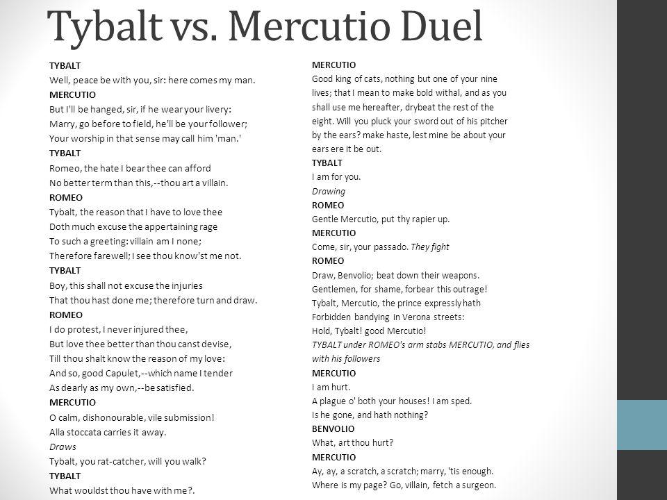 Tybalt vs. Mercutio Duel