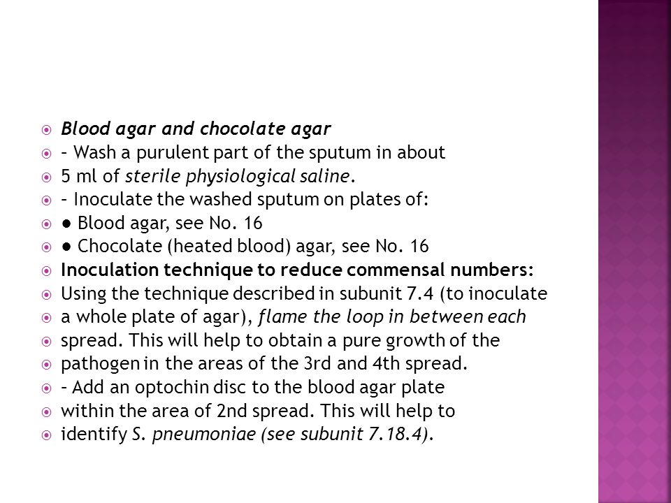 Blood agar and chocolate agar