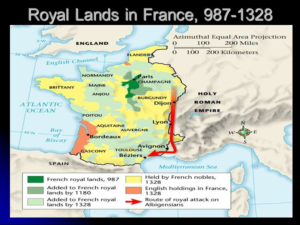 Royal Lands in France, 987-1328