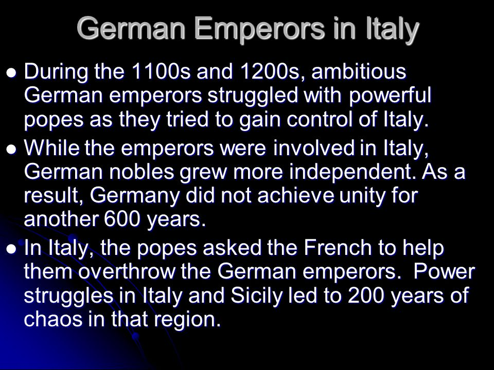 German Emperors in Italy