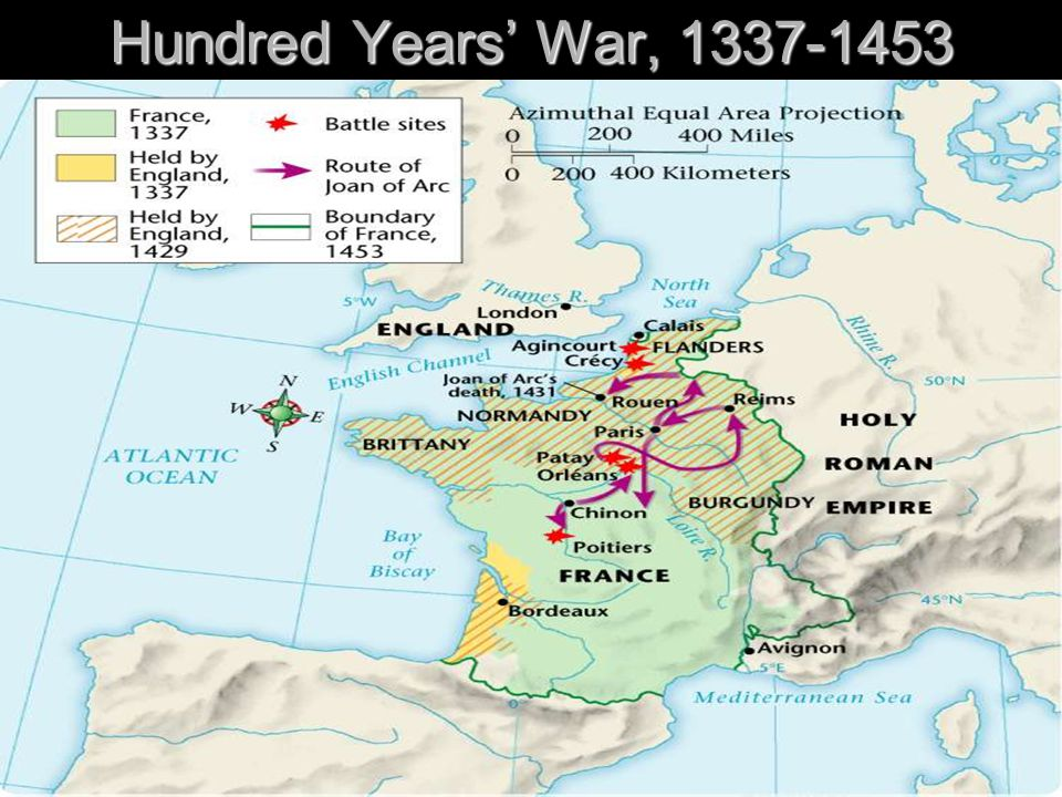 Hundred Years' War, 1337-1453