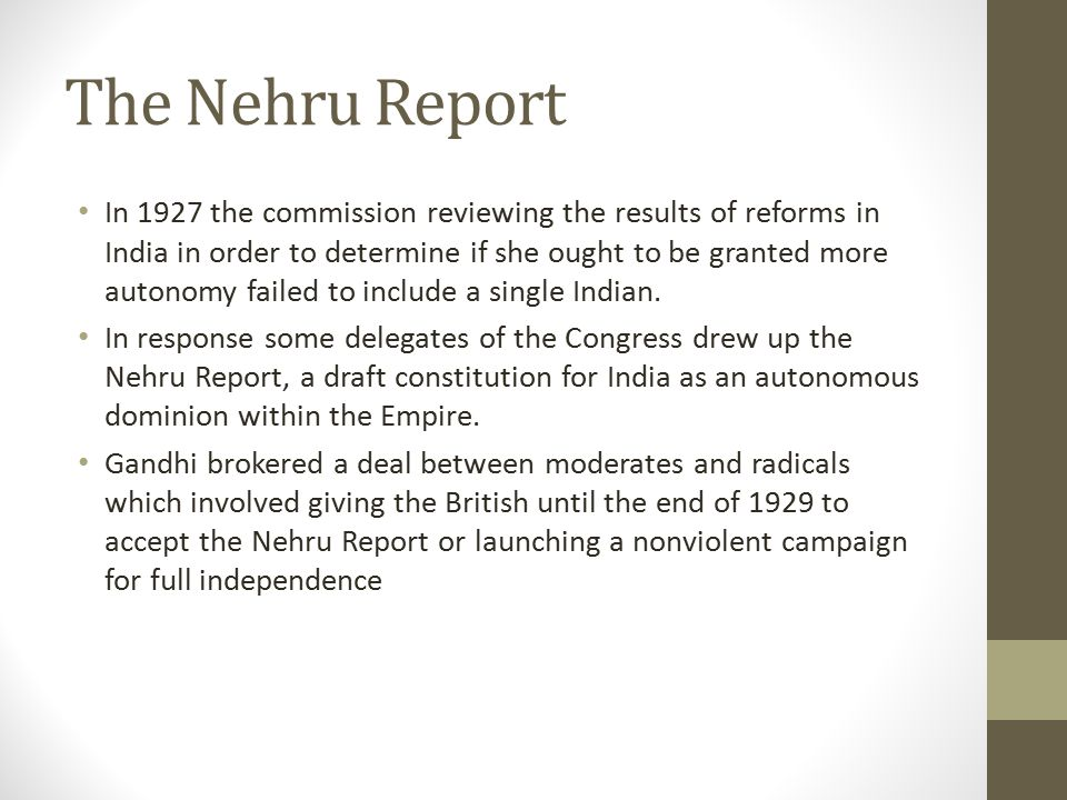The Nehru Report
