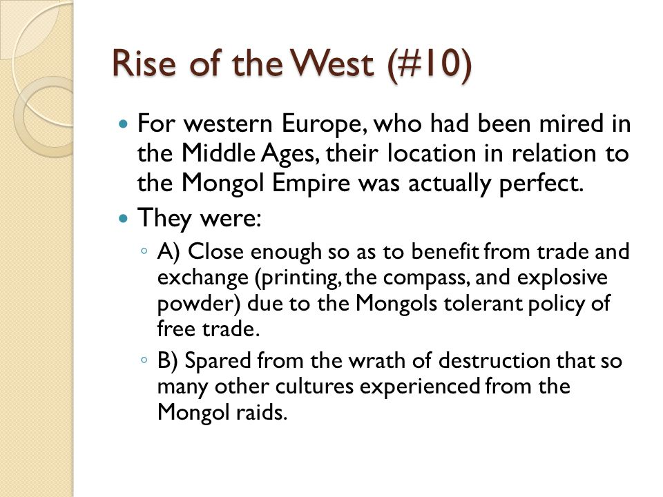 Rise of the West (#10)