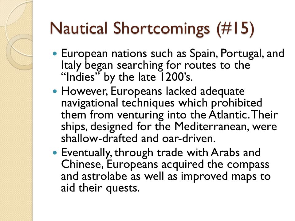 Nautical Shortcomings (#15)