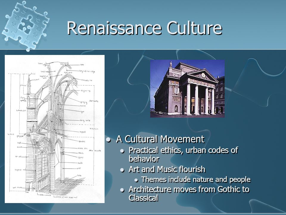 Renaissance Culture A Cultural Movement