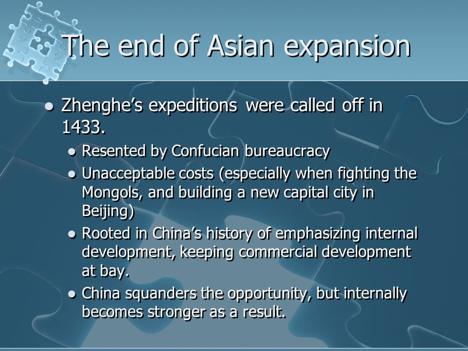 The end of Asian expansion