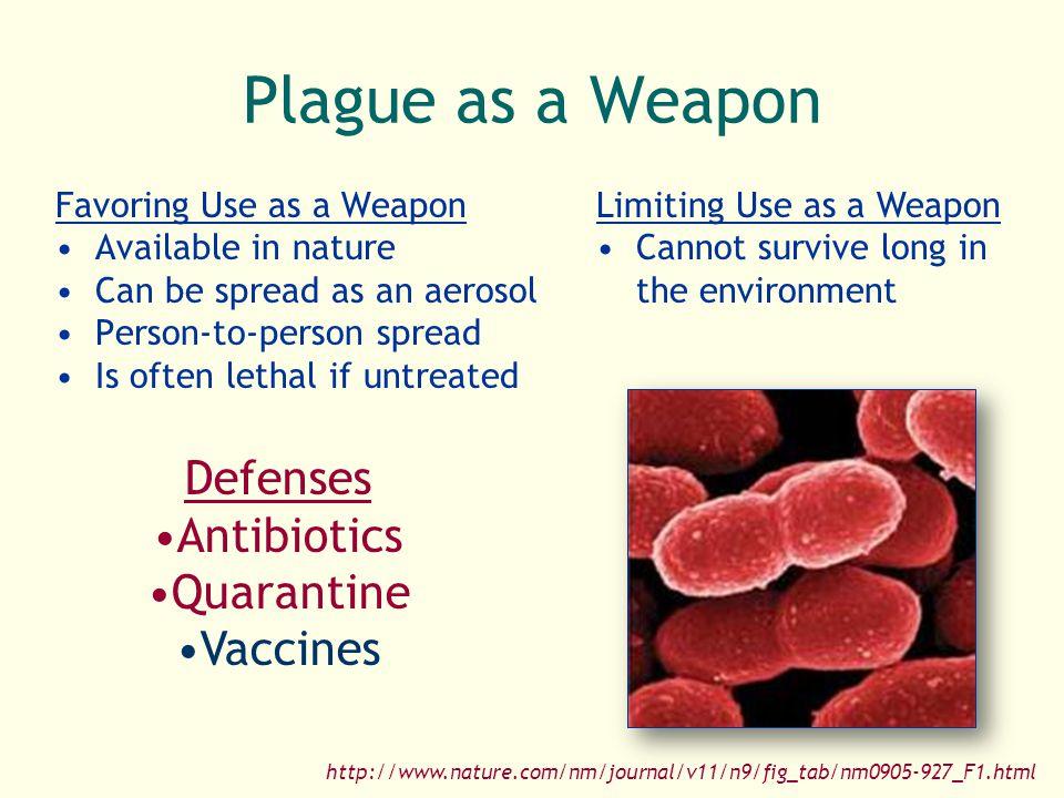 Plague as a Weapon Defenses Antibiotics Quarantine Vaccines