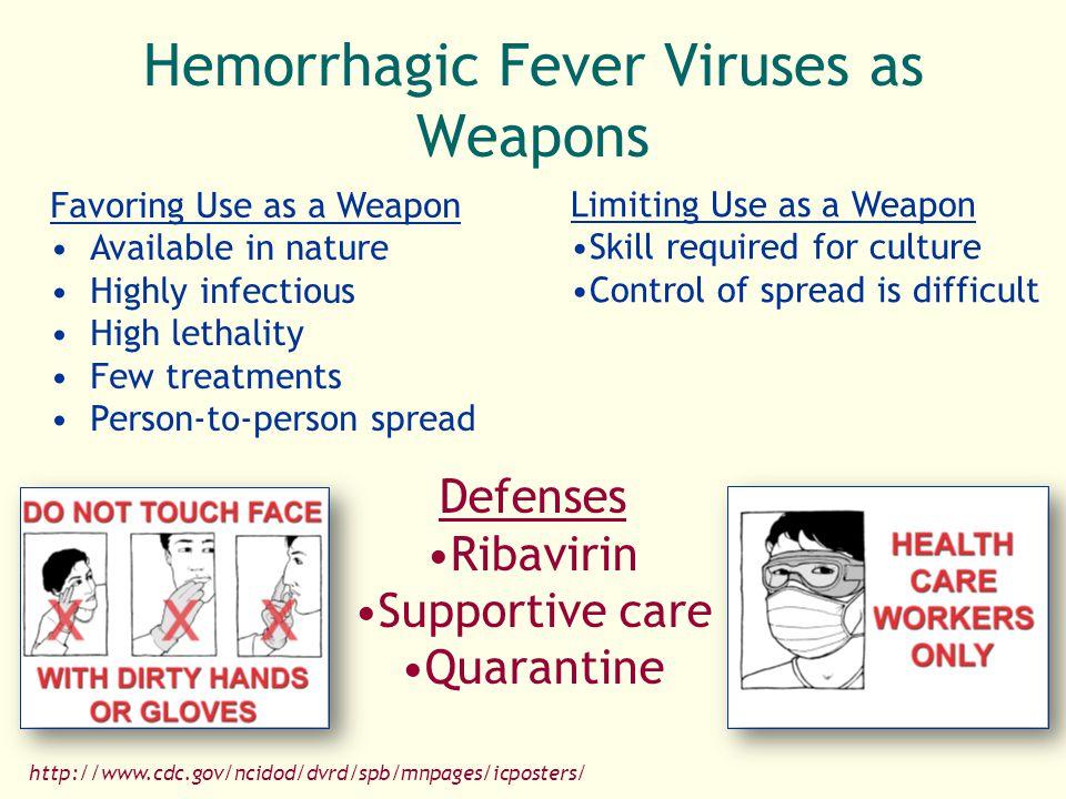 Hemorrhagic Fever Viruses as Weapons