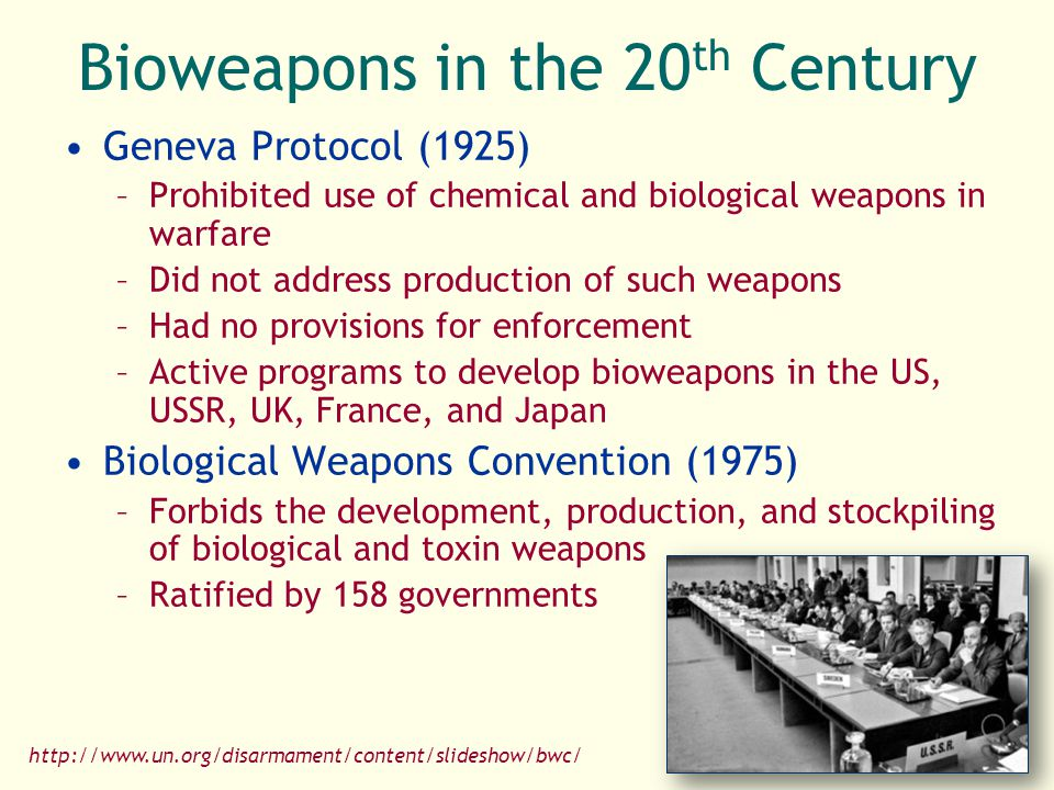 Bioweapons in the 20th Century