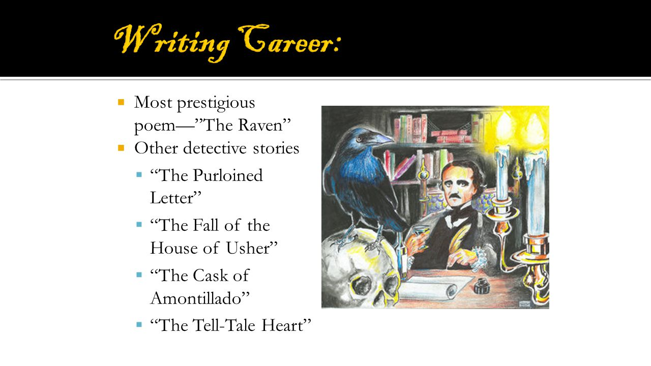 Writing Career: Most prestigious poem— The Raven
