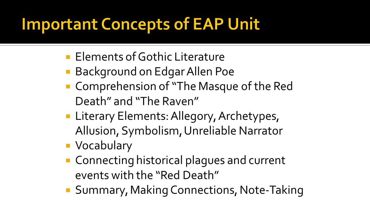 Important Concepts of EAP Unit