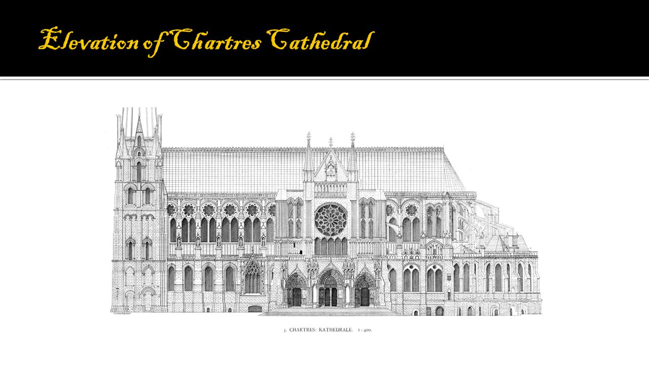 Elevation of Chartres Cathedral