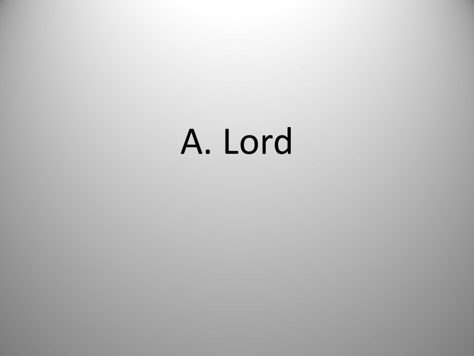 A. Lord
