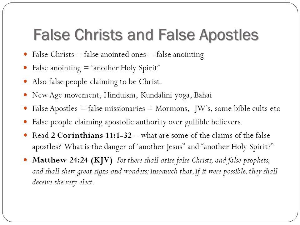 False Christs and False Apostles
