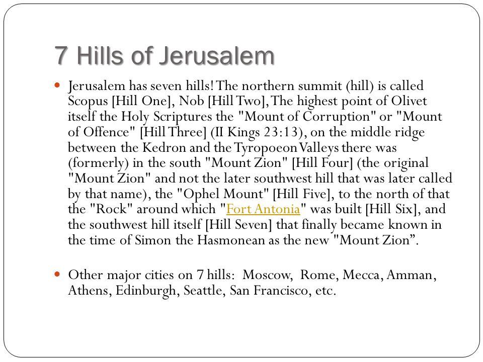 7 Hills of Jerusalem