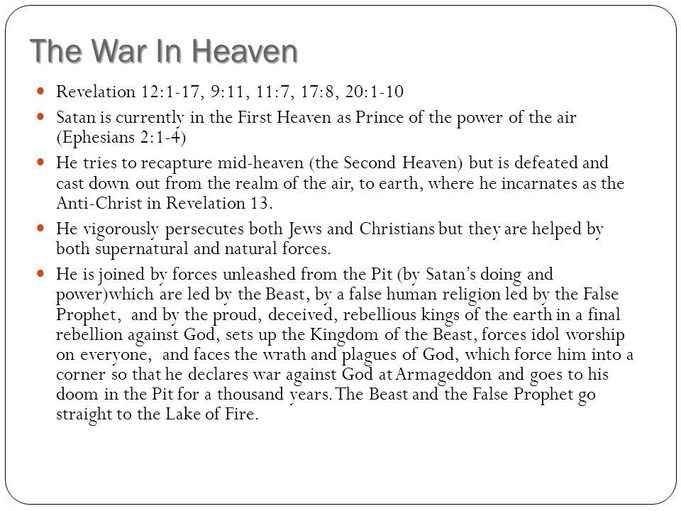 The War In Heaven Revelation 12:1-17, 9:11, 11:7, 17:8, 20:1-10