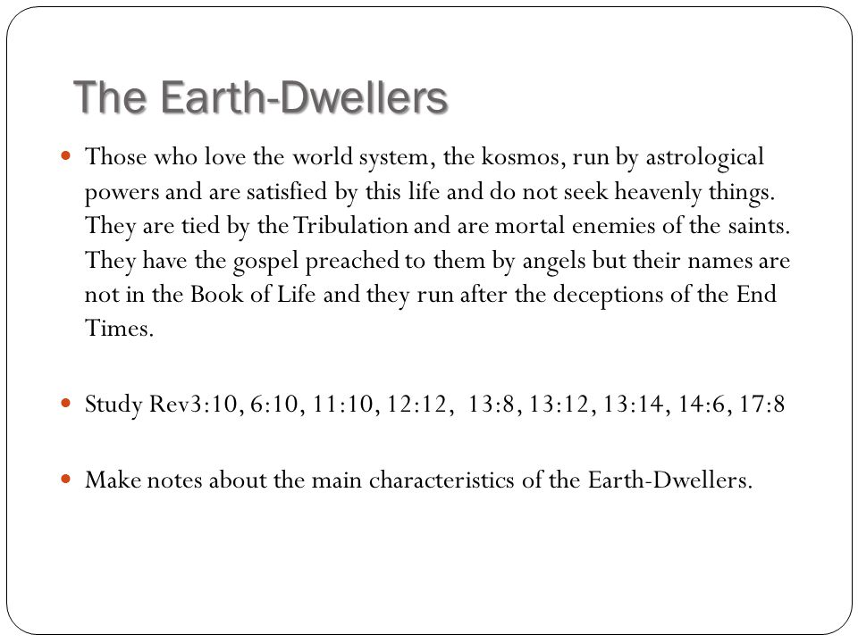 The Earth-Dwellers