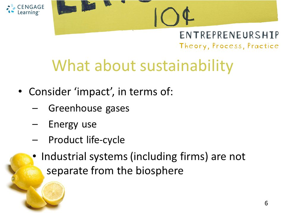 What about sustainability