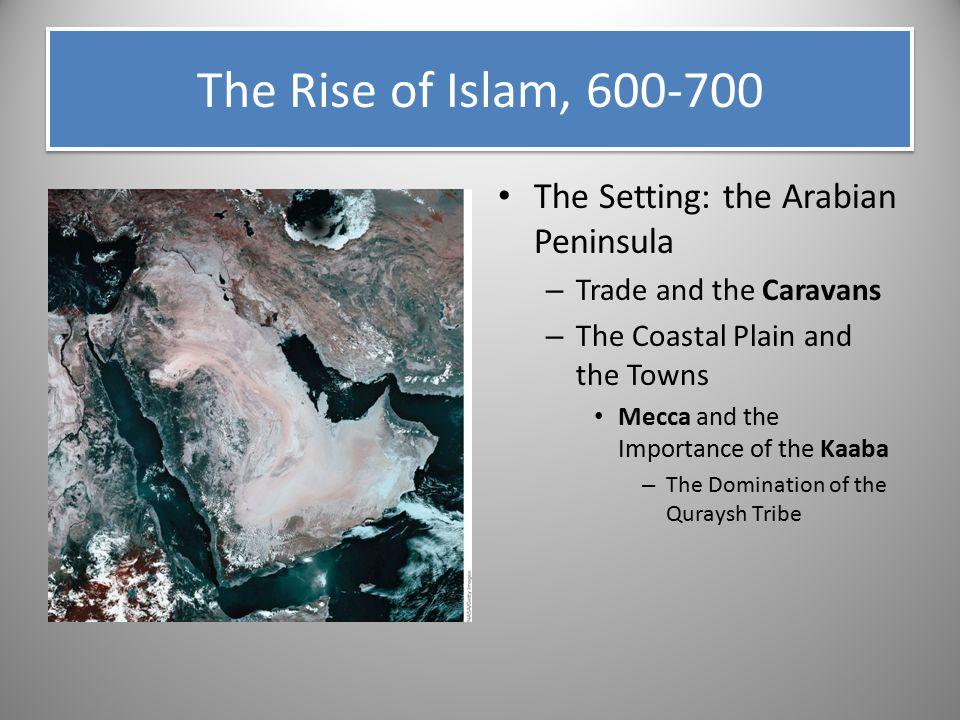 The Rise of Islam, 600-700 The Setting: the Arabian Peninsula