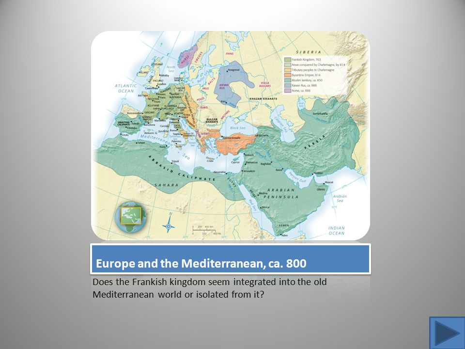 Europe and the Mediterranean, ca. 800