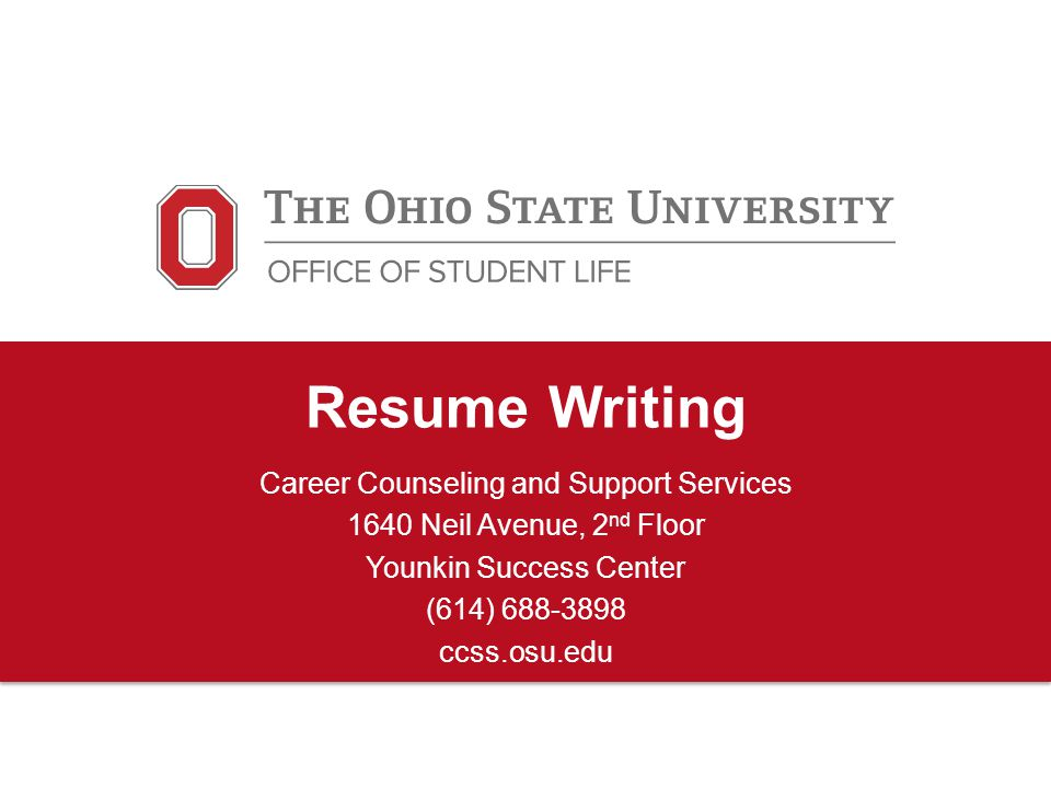 Resume Writing Career Counseling and Support Services