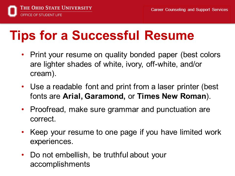 Tips for a Successful Resume