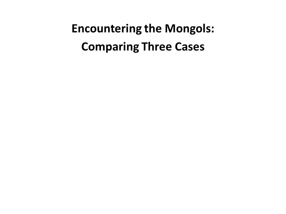 Encountering the Mongols: