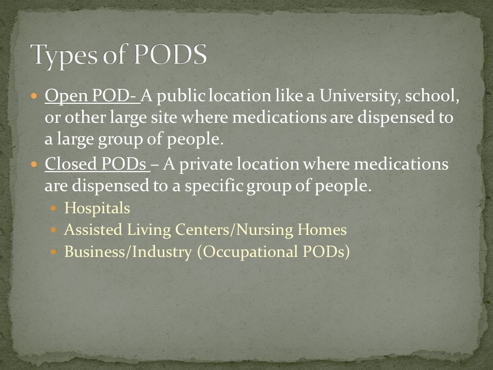 Types of PODS