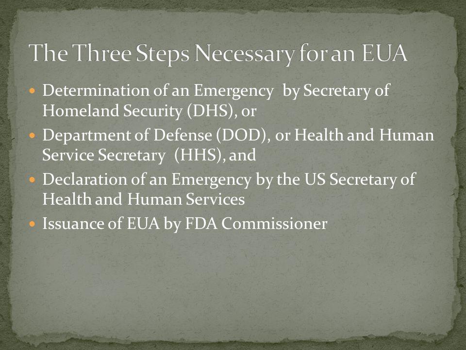 The Three Steps Necessary for an EUA