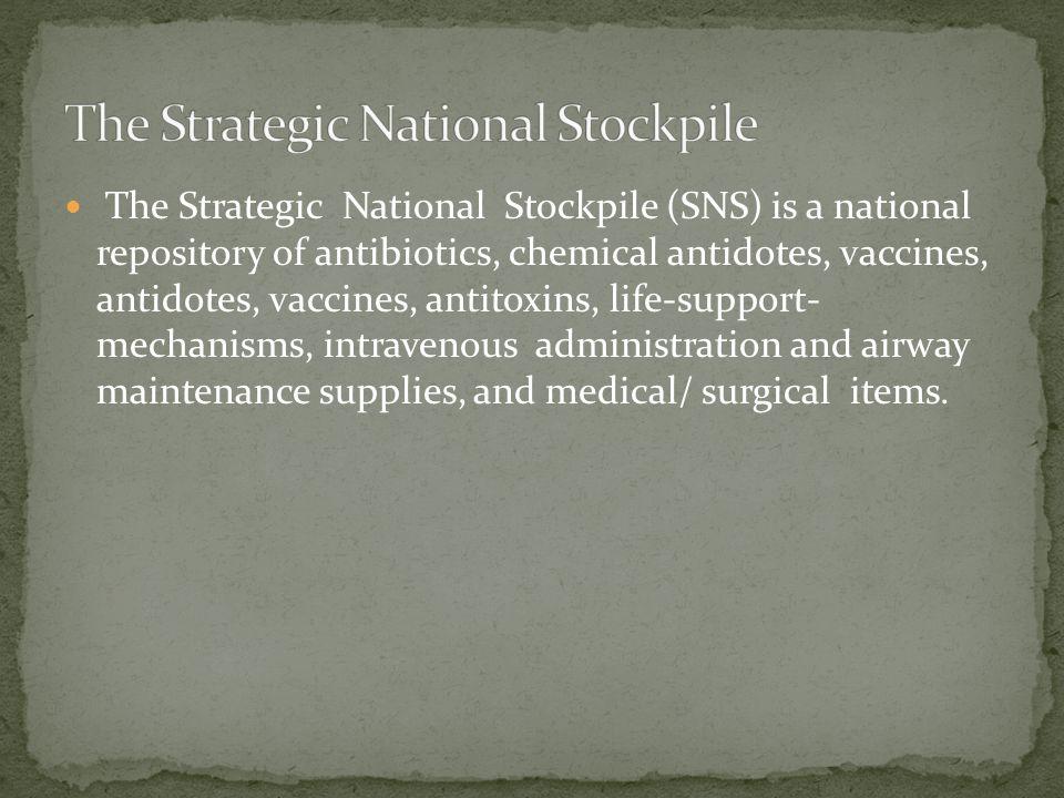 The Strategic National Stockpile