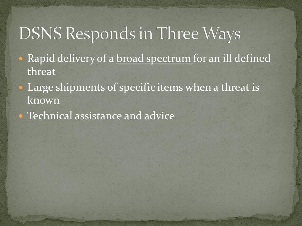 DSNS Responds in Three Ways