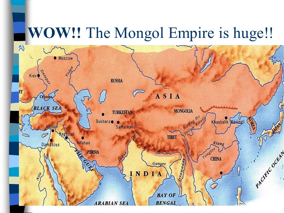WOW!! The Mongol Empire is huge!!
