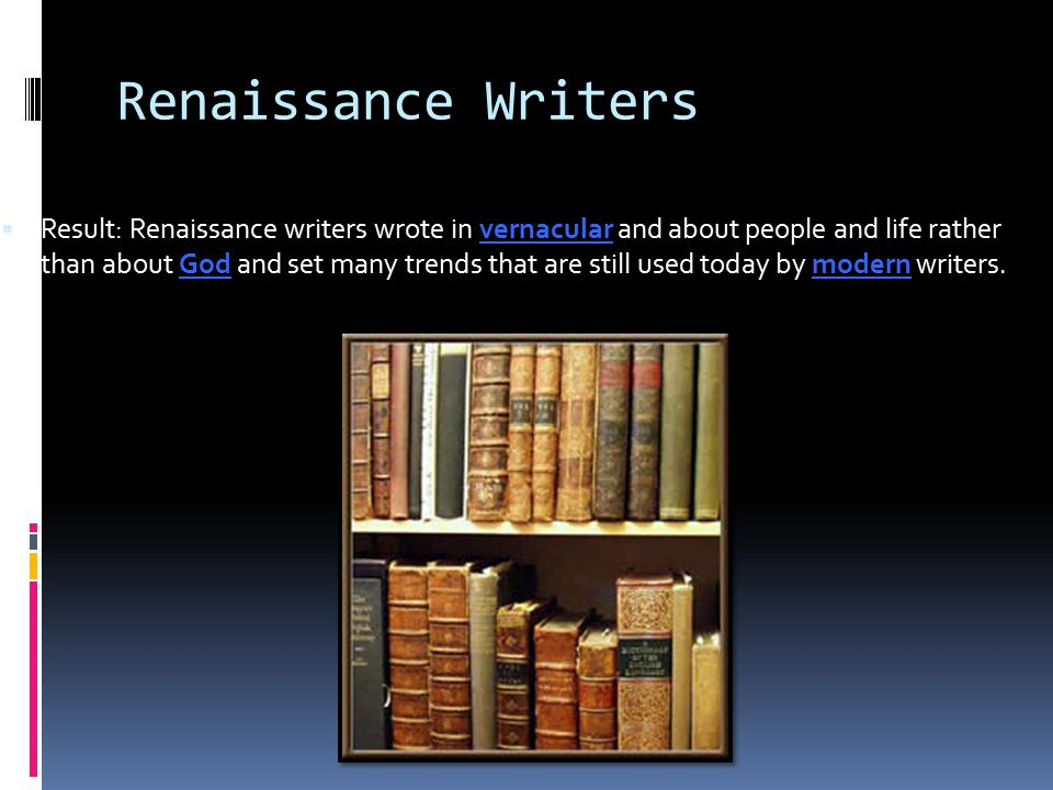 Renaissance Writers
