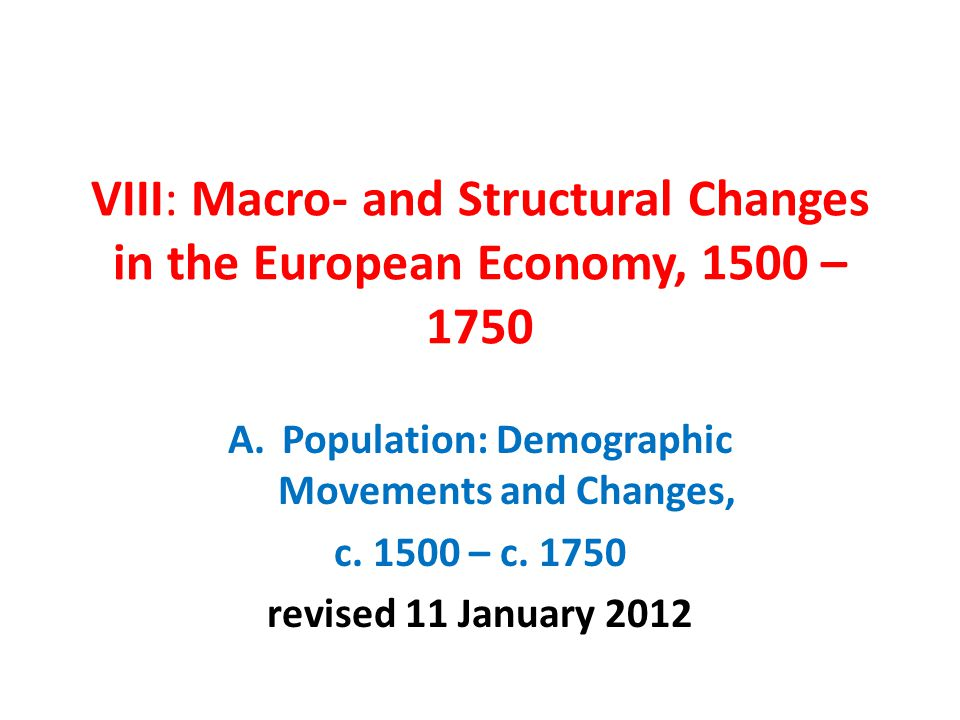 Population: Demographic Movements and Changes,