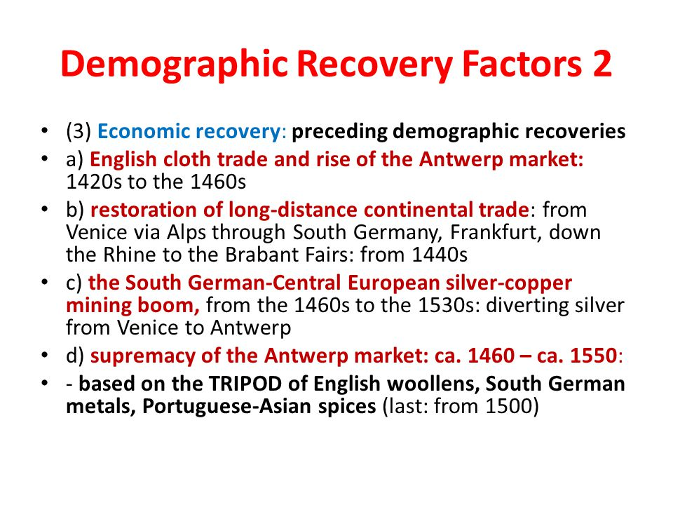 Demographic Recovery Factors 2
