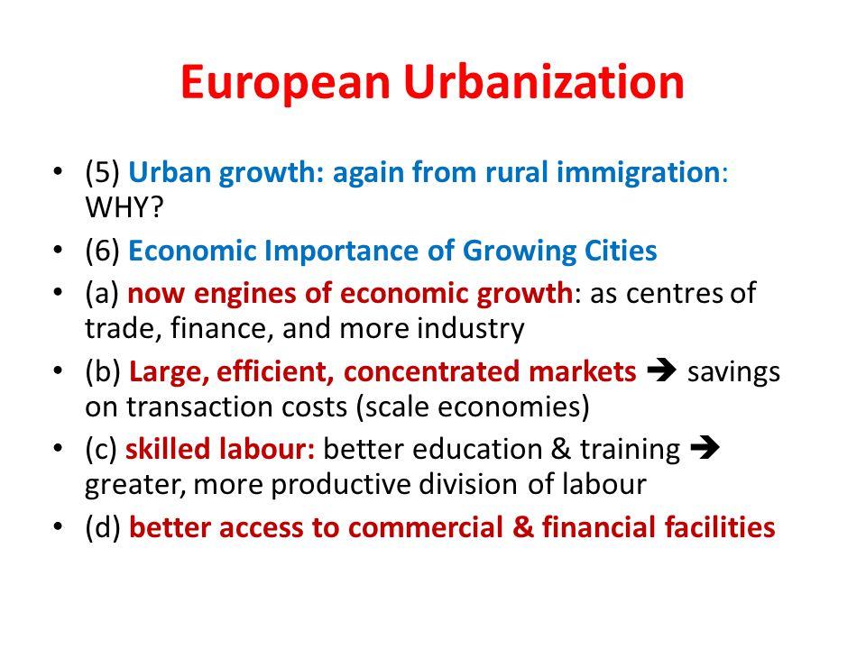 European Urbanization